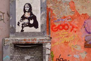 muro graffiti gioconda